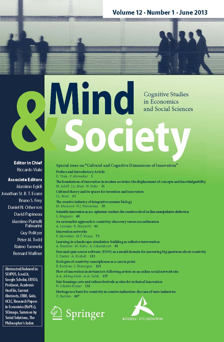 mind culture and society essay The main tenet of cultural psychology is that mind and culture are inseparable and mutually constitutive  because a society is composed of individuals.