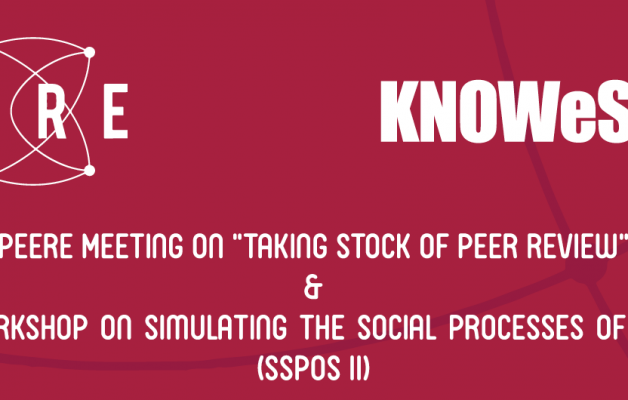 "Upcoming – PEERE – KNOWeSCAPE combined meeting ""Taking stock of peer review"""