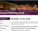 Bibliometrics and Information Retrieval: Creating Knowledge through Research Synergies – a workshop at the ASIST 2016, October 17 Copenhagen